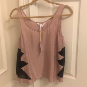 BCBG Generation tank top with mesh side